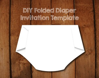 Diaper invitation etsy folded diaper invitation diy template with instructions how to make your own diaper shaped baby shower invitations filmwisefo