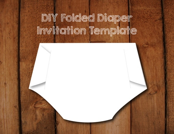 Folded diaper invitation diy template with instructions how etsy image 0 filmwisefo