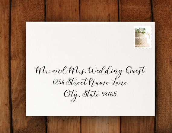 Wedding Invitation Address Formatting Print From Home Etsy