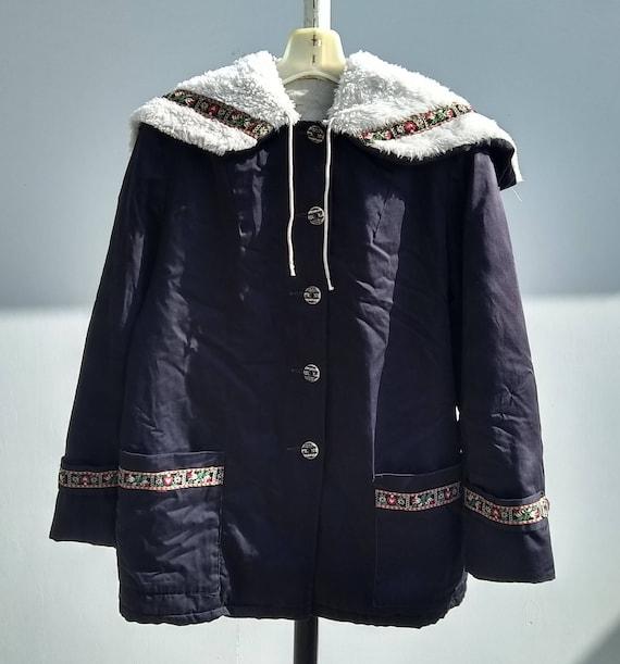 Coat hooded Nordic snow warm ski metal zipper Euro
