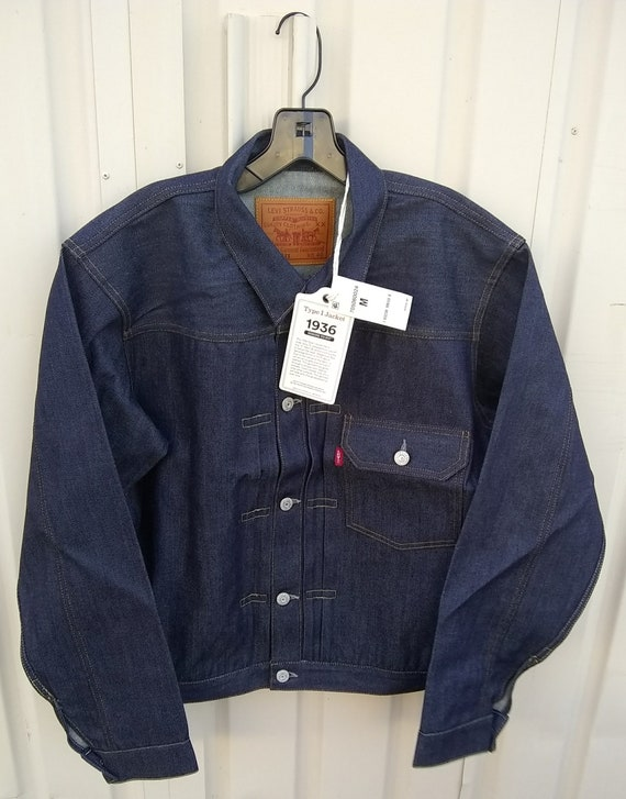 506xx Levis Strauss 1936 type 1 pocket denim jacke