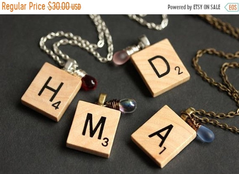 HALLOWEEN SALE Personalized Initial Necklace. Letter Necklace. image 0