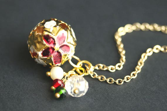 CLOISONNE 15mm BELL Mini Jingle Pendant Charms Jewellery Making Findings 24
