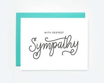 With Deepest Sympathy Greeting Card
