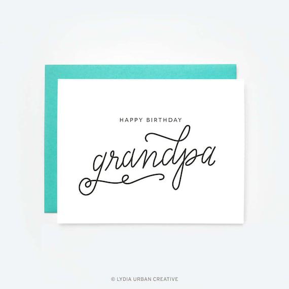 Happy Birthday Grandpa Greeting Card Etsy