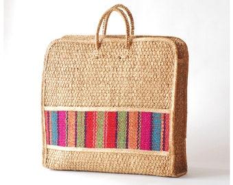 vintage oversized straw bag