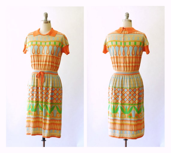 vintage 1960s Goldworm merino wool mod dress