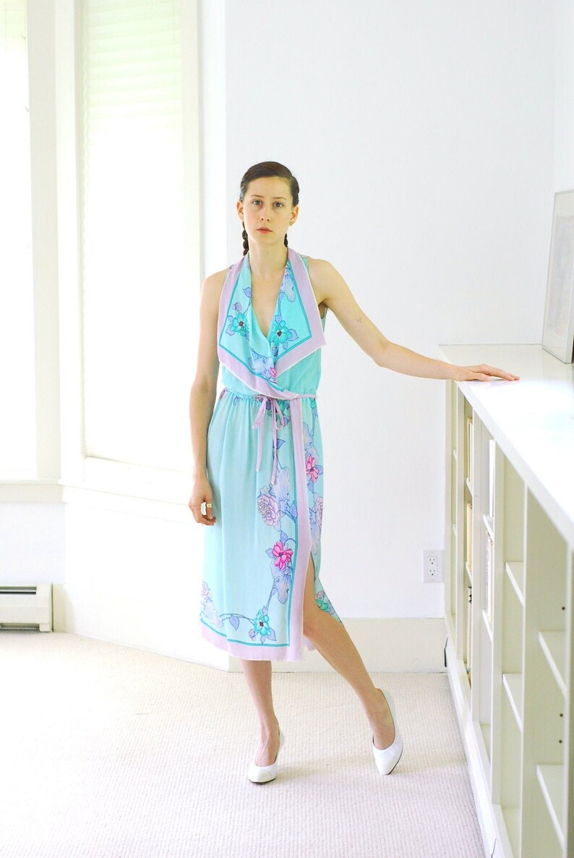 vintage Brijo Italian silk floral dress / size small