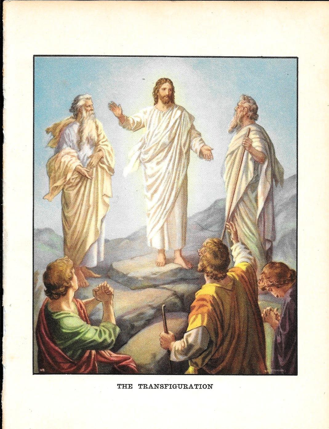 Vintage Print 1936 THE TRANSFIGURATION Bible Story Print ...