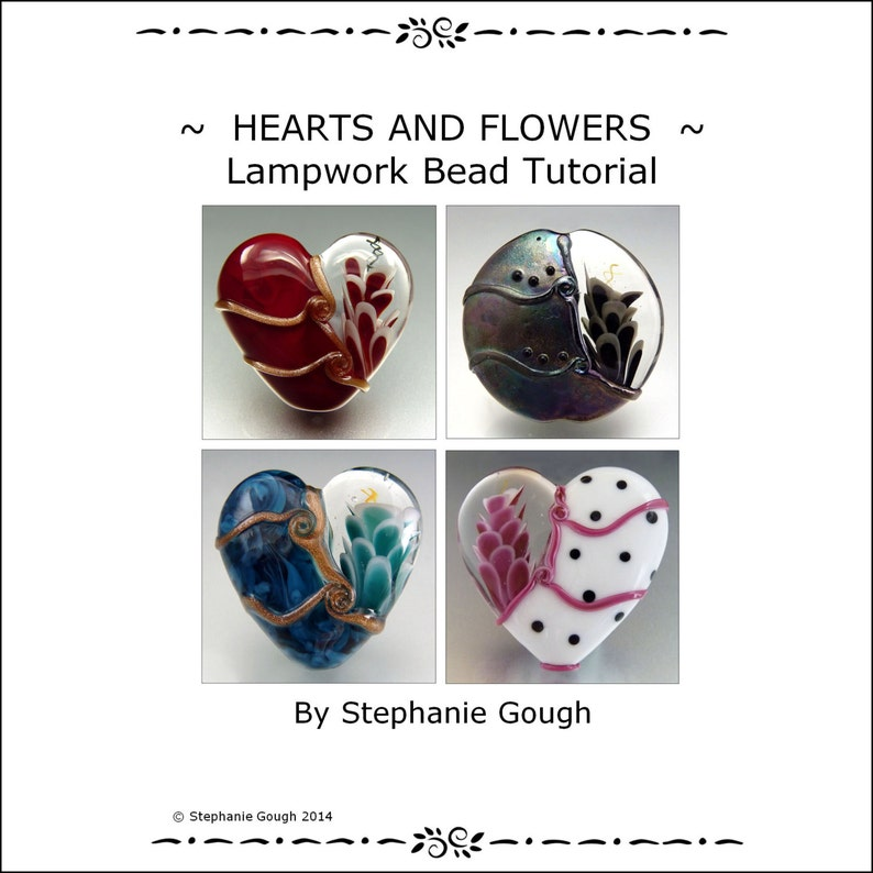 HEARTS AND FLOWERS  Lampwork Bead Tutorial by Stephanie Gough image 0