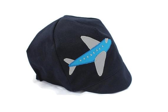 c59521871fc Airplane Hat Navy Blue Airplane Cap Reversible Organic