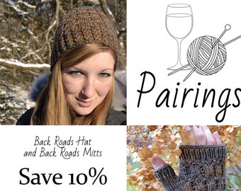 Pairings - Back Roads Hat and Back Roads Mitts PATTERN PDFs, Knitting Patterns