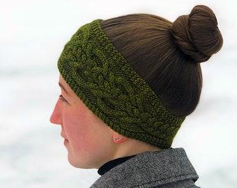 Cabled Headband Knitting PATTERN PDF, Knit Headband - Lochmoor Headband