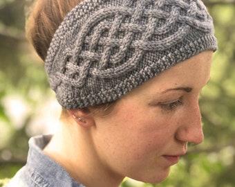 Cabled Headband Knitting PATTERN PDF, Knit Headband - Celtic Roots Headband