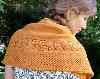 Shawl Knitting PATTERN, Knit Shawl Pattern,  Fall Shawl, PDF - Heirloom Cultivar Shawl