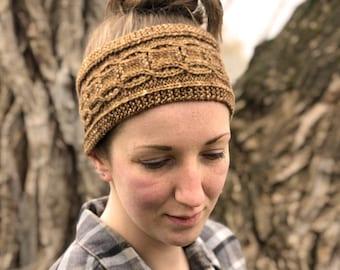 Cabled Headband Knitting PATTERN PDF - Back Roads Headband