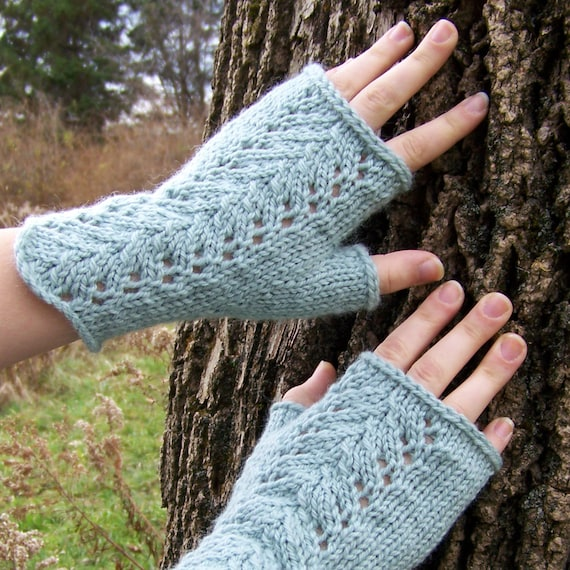Fingerless Gloves Knitting PATTERN PDF, Knitted Fingerless Mittens ...