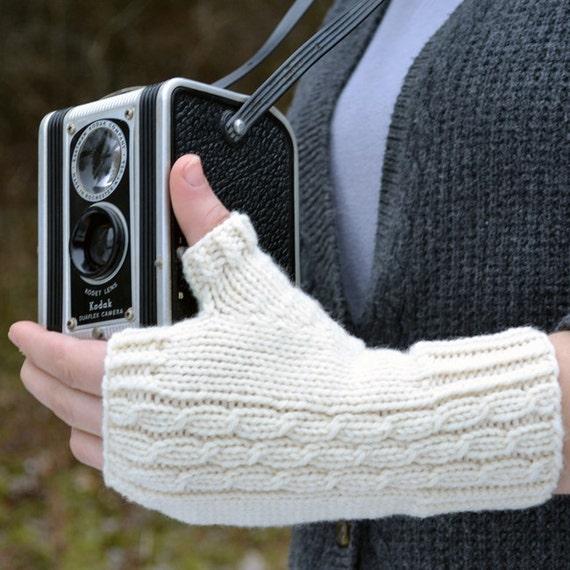 Fingerless Gloves Knitting PATTERN PDF Knitted Fingerless   Etsy