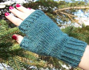 Fingerless Gloves Knitting PATTERN PDF, Knitted Fingerless Gloves Pattern, Fingerless Mitts Knitting Pattern - Pine Woods