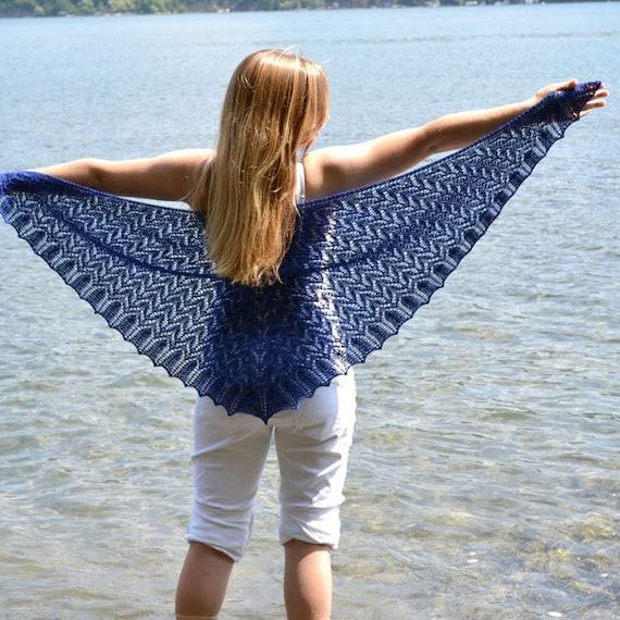 Shawl Knitting Pattern Pdf Knit Shawl Pattern Lace Triangle Etsy