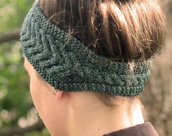 Knit Headband PATTERN PDF, Cabled Headband - Stoney Creek Headband