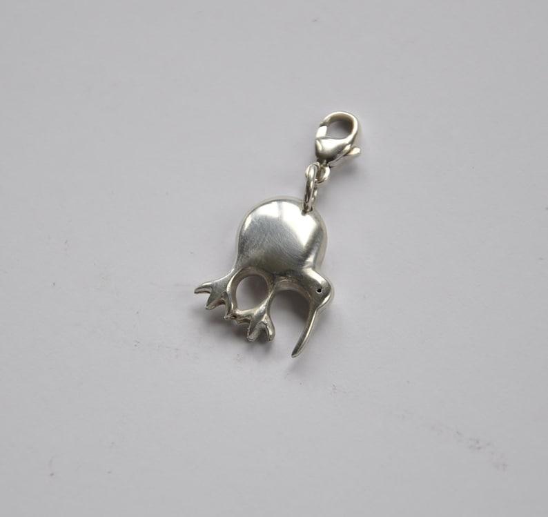 New Zealand Kiwi bird charm~925 Sterling silver~ kiwi charm