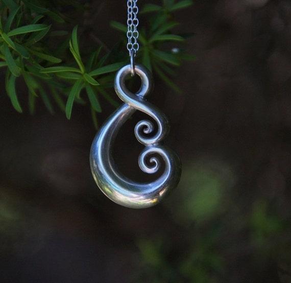 Maori Love Symbol Sterling Silver Koru Tribal Ethnic Etsy