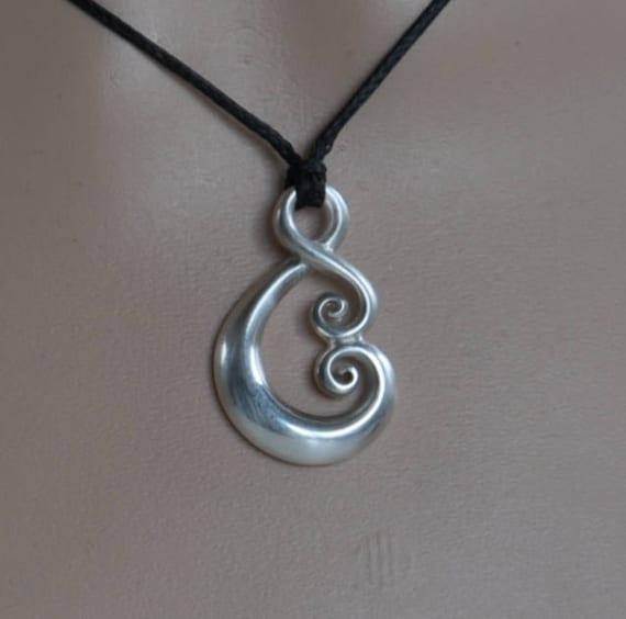 Maori Love Symbol Solid Sterling Silver Koru Tribal Ethnic Etsy