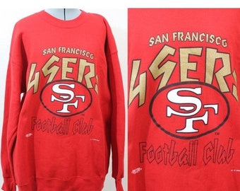 FALL CLEARANCE SALE Vintage Retro Red Nfl San Fransisco 49ers Sweatshirt  Large 1efff4131