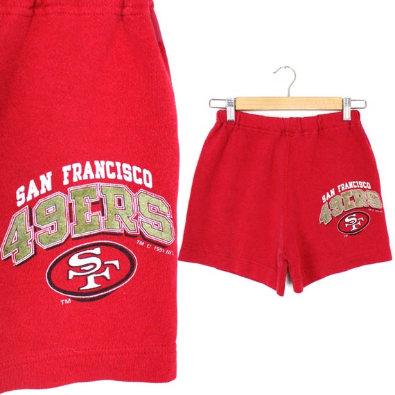 Vintage Retro 7 Logo San Francisco 49ers Shorts Youth Large  761ff23ff