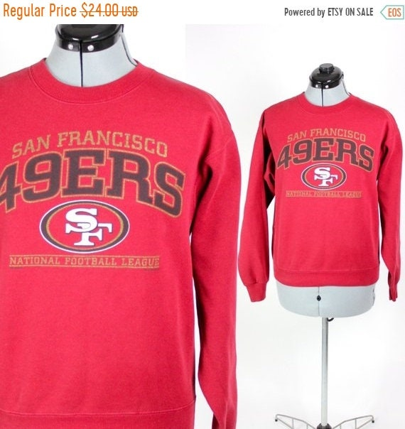 FALL CLEARANCE SALE Vintage Retro Red Nfl San Fransisco 49ers  9798414a0