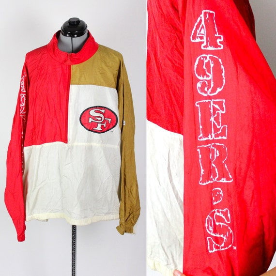 Vintage Retro NFL San Francisco 49ers Windbreaker Jacket Large  707142a72