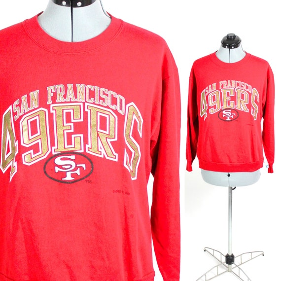 Vintage Retro Red NFL San Fransisco 49ers Sweatshirt Medium  67c58bce9