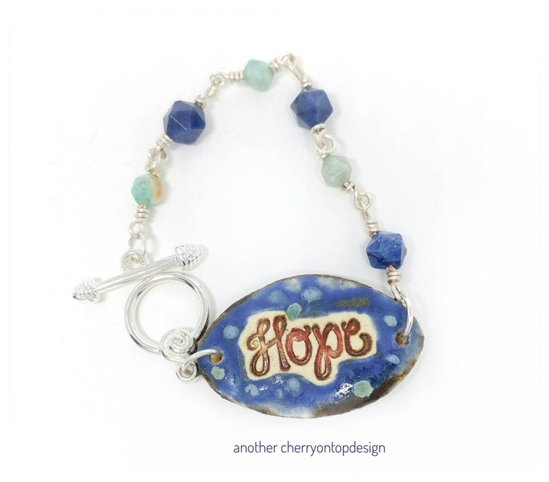 Hope Aromatherapy Essential Oil Diffuser Bracelet gift for image 0