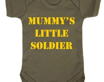 Mummy/'s Little Soldier Baby Vest