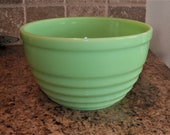Jeannette Jadite Jadeite Concentric Rings 9 3 4 quot Mixing Bowl