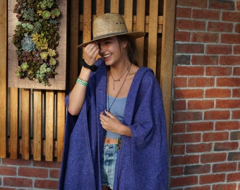 Vintage Irish Wool Poncho