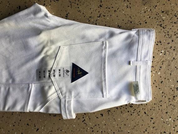 Vintage Dead-stock White Denim Painter Pants