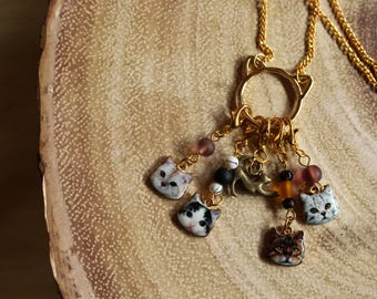 Cat Lover's Charm Pendant - Stitch Marker Jewelry - Knit and Crochet Jewelry - Crazy Cat Lady - Wearable Notions - Bling Your String
