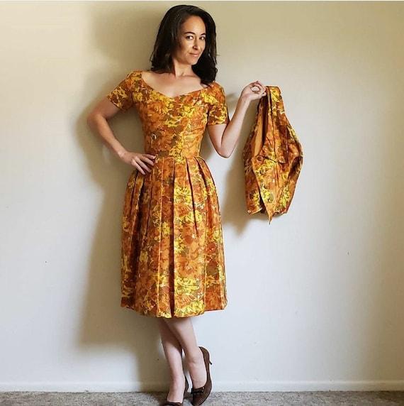 1950s Suzy Perette Vintage Dress Set for Fall Fash