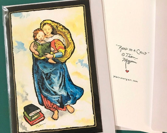 """2 Cards ~ """"Read to a Child"""" ~ Ready to Ship"""