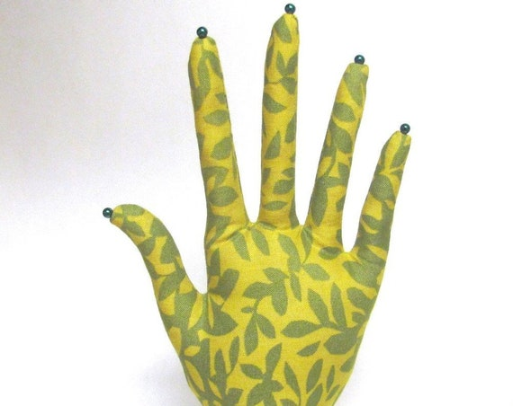 CLASSIC Leafy Green HAND-Stand ~ Jewelry Display ~ Ready to Ship!