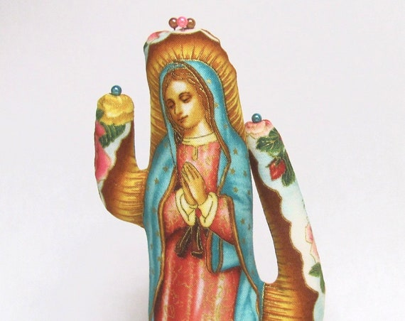 Our Lady of Guadalupe Tall CACTUS-Stand ~ Jewelry Holder ~ Ready to Ship