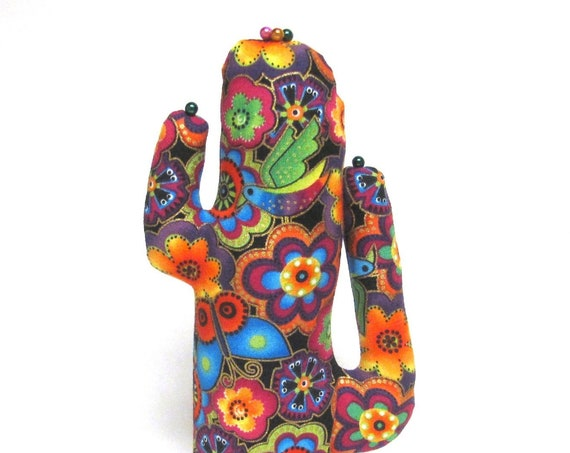 Tall Laurel Burch Colorful CACTUS-Stand ~ Eyeglass Jewelry Holder ~ Ready to Ship