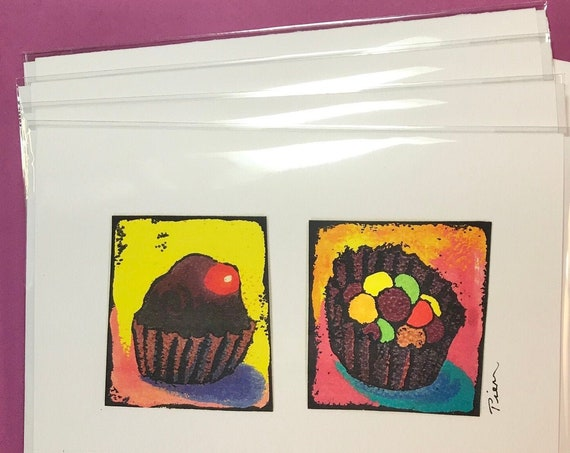 4 Candy Cards ~ Ready to Ship!