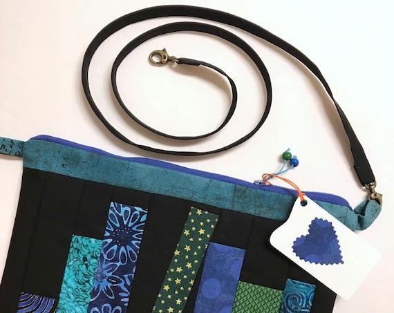OOAK Zipper BOOK Bag ~ 2 Inside Pockets + Removable Strap ~ Ready to Ship!