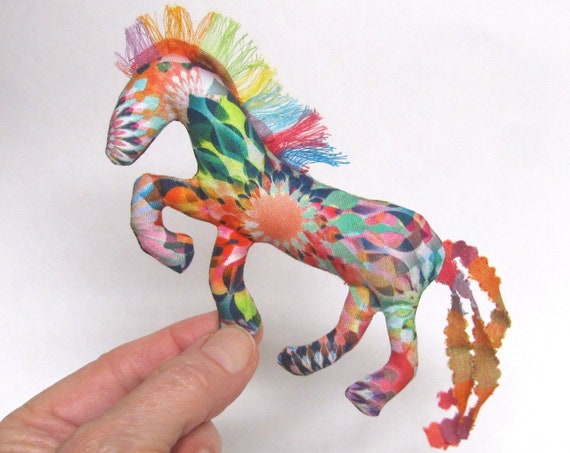 NEW! Pretty Little Horse ~ Crystalia Fabric Pin Ornament Mobile ~ Ready to Ship