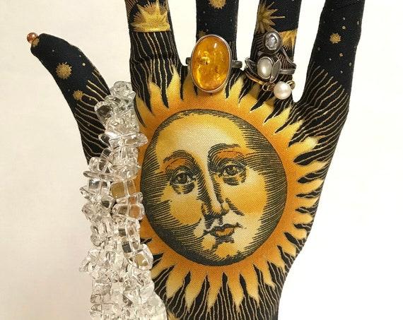 CLASSIC Sun Moon Stars HAND-Stand ~ Jewelry Display ~ Ready to Ship!