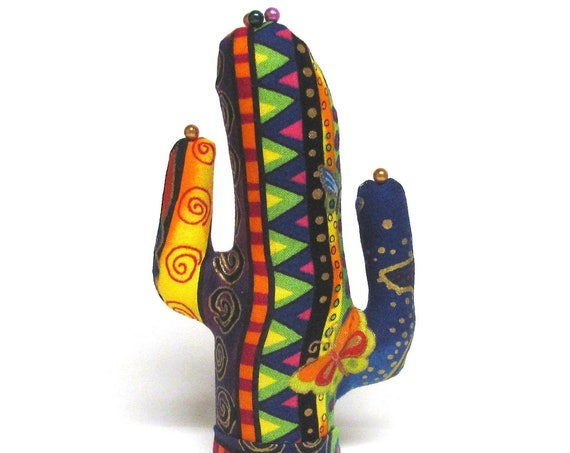 Laurel Burch Short Saguaro CACTUS-Stand ~ Glasses Jewelry Holder ~ Ready to Ship!