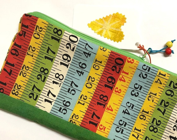 Zipper Pouch ~ Tape Measure ~ Ready to Ship!